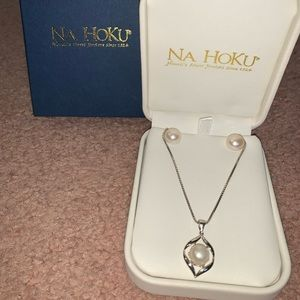 Na Hoku pearl necklace & earring set